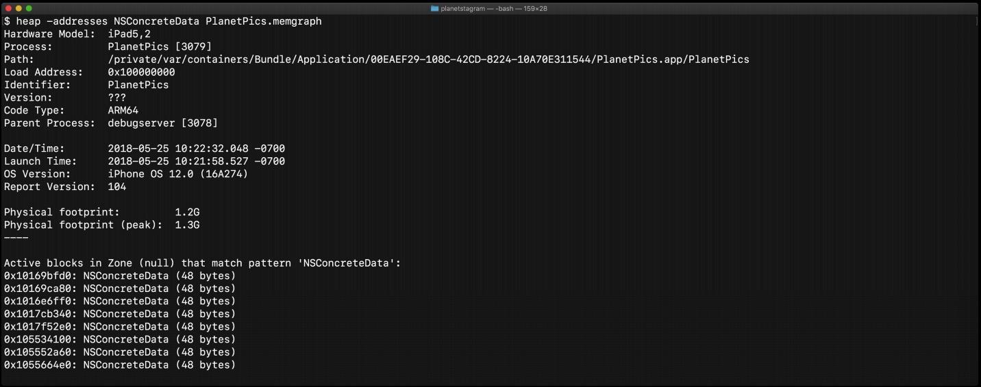 heap App.memgraph -addresses all   <classes-pattern>